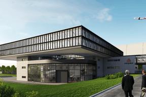 Cargolux pourra rassembler ses 400 effectifs au sol au sein d'un même bâtiment offrant une surface de 7.000 m 2 . (Albert Speer + Partner)