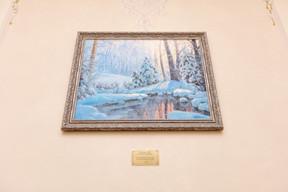 Cadeau signé du propriétaire universel de la banque, VladimirEvtushenkov, pour son 45eanniversaire: un tableau de l'artiste de Saint-Pétersbourg Oleg Pyatin.  ((Photo: Romain Gamba/Maison Moderne))