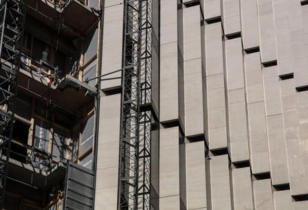 L'immeuble de bureaux de 10.400m² du complexe Royal-Hamilius accueillera une seule société pour commencer. (Photo: Jan Hanrion / archives / Maison Moderne)