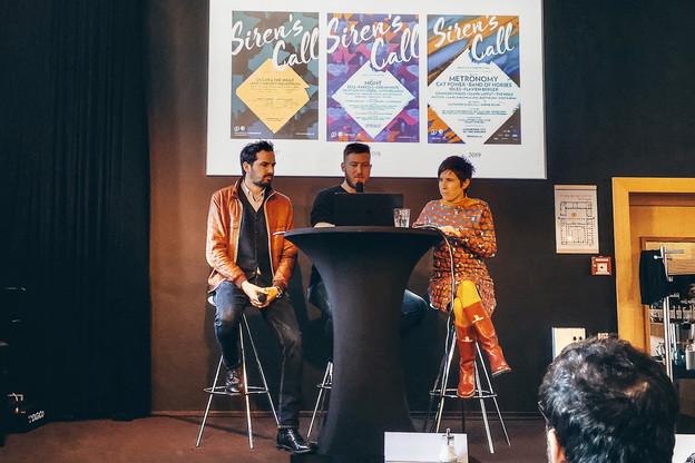 Michel Welter, Max Hochmuth et Ainhoa Achutegui ont présenté ce matin le programme du festival Siren's Call 2020. (Photo: Ralitt)