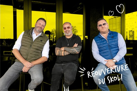 Sylvain Reiter, Kader et Micheli Moschetta feront renaître le Skol en mode «original» à Strassen d'ici début Octobre. (Design: Maison Moderne)