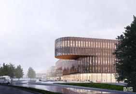 Les façades transparentes permettront de percevoir l'activité dans les bureaux. ((Illustration: BIG-Metaform))