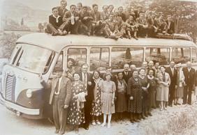 Un des premiers voyages en groupe organisés par JosLentz, le grand-père de Marc et Jos Sales. ((Photo: SLG))