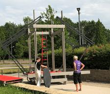 Pendant la construction de «Slow Teleport». ((Photo: Casino Luxembourg))