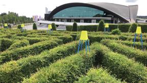 Vue du labyrinthe avec les stations de ravitaillement. ((Photo: Casino Luxembourg))