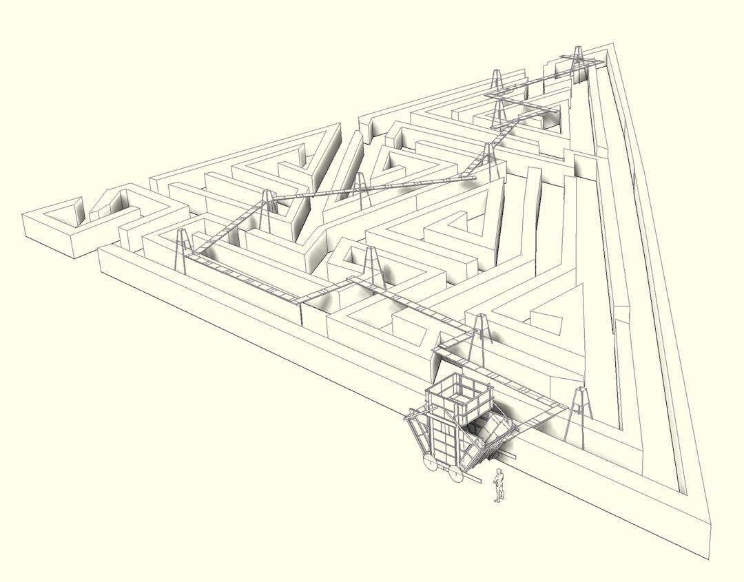 Dessin du concept élaboré par Schweder+Shelley pour «Slow Teleport». (Illustration: Schweder+Shelley)
