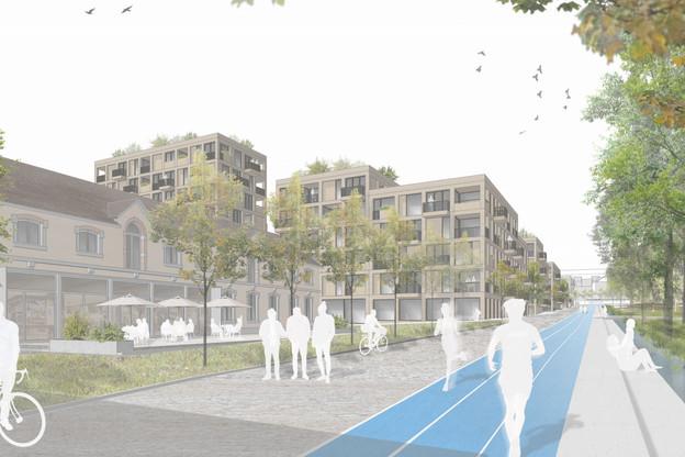 Le projet «SmartQ» présente un parc au cœur du nouveau site. (Illustration: Architecture + Aménagement)