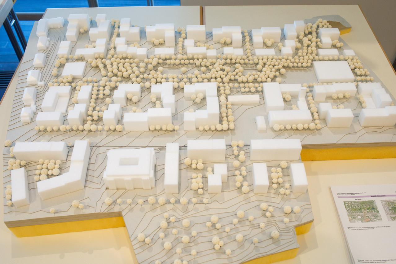 Vue de la maquette du projet «SmartQ». (Photo: Matic Zorman/Maison Moderne)
