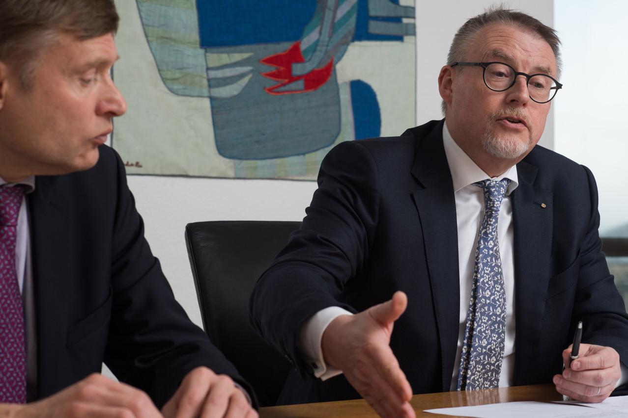 EmmanuelBaumann (à gauche) et PatrickNickels sont respectivement les directeur et président de la Société nationale de crédit et d'investissement (SNCI). (Photo: Archives/Nader Ghavami)