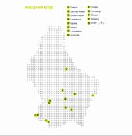 Répartition géographique du parc locatif actuel de la SNHBM. ((Source: SNHBM))