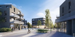 Vue du projet à Belval Nord. ((Illustration: Fabeck Architectes))