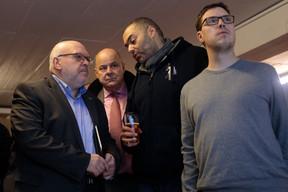 Patrick Dury (Président du LCGB) aux côtés du député Marc Spautz (CSV) ((Photo: Matic Zorman))