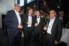 Tom Goerens (BCEE),  Michel Lanners (LU-CIX), Marc Funck (SIX Payment Services) et Michel Mergen (BCEE) ((Photo: Nader Ghavami))
