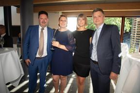 Florence Roux-Christmann (Thi'Pi), Melanie Delannoy (GovSat), Márton Fülöp (Docler Holding) ((Photo: Nader Ghavami))