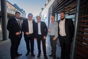 Gregory Manelli (LuxConnect), Marc Tholl (MIXvoip), David Celis (CMD.solutions), Pascale Knebler (MIXvoip) et Marcin Rzeczkowski (MIXvoip) ((Photo: Nader Ghavami))