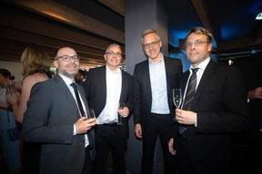 Tom Kettels (Infrachain), Carlo Richartz (POST Technologies), Gaston Schmit (Ministère de la Digitalisation) et Eric Kreier (SMC) ((Photo: Nader Ghavami))