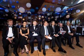Peter Sodermans (SMC), Frédérique Ulrich (LU-CIX), Marco Houwen (LU-CIX), Roger Lampach (LuxConnect) et Claude Demuth (LU-CIX), François Biltgen (Cour Justice Européenne) et Didier Wasilewski (Cegecom) ((Photo: Nader Ghavami))