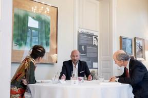 Lisa Burke (RTL), Mathieu Mathelin (Maison Moderne) et David Clark (British Luxembourg Society) (Jan Hanrion / Maison Moderne Publishing SA)