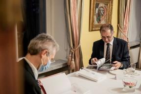 Patrick Geortay (Linklaters) à gauche et Mark Phillips (AVIVA Investors Luxembourg S.A.) à droite (Jan Hanrion / Maison Moderne Publishing SA)