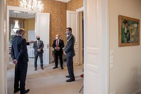 Mathieu Mathelin (Maison Moderne), John Marshall (Ambassadeur du Royaume-Uni au Luxembourg), Kenneth Graham (Vodafone), Finbarr Browne (Schroders), Justin Fowler ( Defence Attaché ) (Jan Hanrion / Maison Moderne Publishing SA)