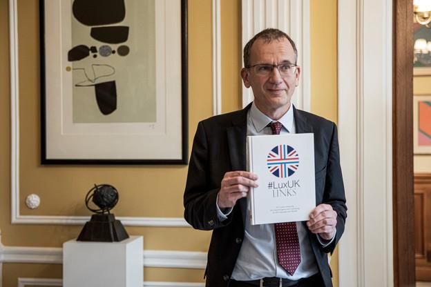 Soirée de lancement #LuxUKLinks 22.10.2020 /John Marshall (Ambassadeur du Royaume-Uni au Luxembourg) Jan Hanrion / Maison Moderne Publishing SA
