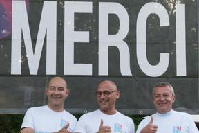 Au centre, Vincent Bechet (Inowai), faisait partie des organisateurs de la course ((Photo: Jean-Jacques Marais))