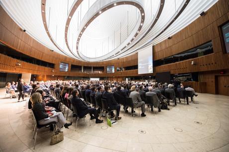 Le European finance summit est organisé le 5 mars au Centre européen des congrès de Luxembourg. (Photo: Anthony Dehez / Archives)