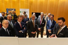 Visite à la Chambre de commerce pour le Roi des Belges ((Photo: Emmanuel Claude / SIP))