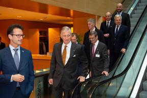 Carlo Thelen (Chambre de commerce) et S.M. le Roi des Belges ((Photo: Anthony Dehez))