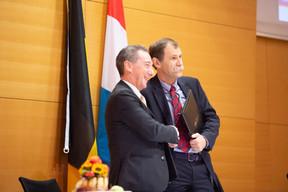 Romain Meeusen (Vrije Universiteit Brussel) et Axel Urhausen (Luxemburg Institute of Research) ((Photo: Anthony Dehez))
