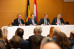 Eric Haubruge (Job@Skills), Pierre Wolper (Université de Liège), Thomas Kallstenius (List) et Elie Deblire (Idelux) ((Photo: Anthony Dehez))