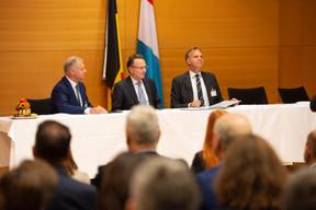 Eric Haubruge (Job@Skills), Pierre Wolper (Université de Liège) et Thomas Kallstenius (List) ((Photo: Anthony Dehez))