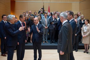 Visite à la Chambre de commerce pour le Roi des Belges ((Photo: Anthony Dehez))