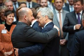 Étienne Schneider (vice-Premier ministre) et Didier Reynders (vice-Premier ministre de Belgique) ((Photo: Anthony Dehez))