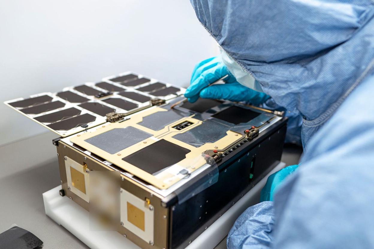 One of OQ Technology's shoebox-sized satellites being assembled Photo: OQ Technology