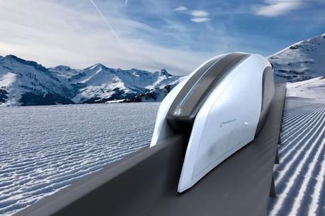 À 540km/h au-dessus d'un «T» renversé, le Spacetrain peut s'intégrer «assez facilement» au paysage. Même en bord d'autoroute. (Photo: Spacetrain)