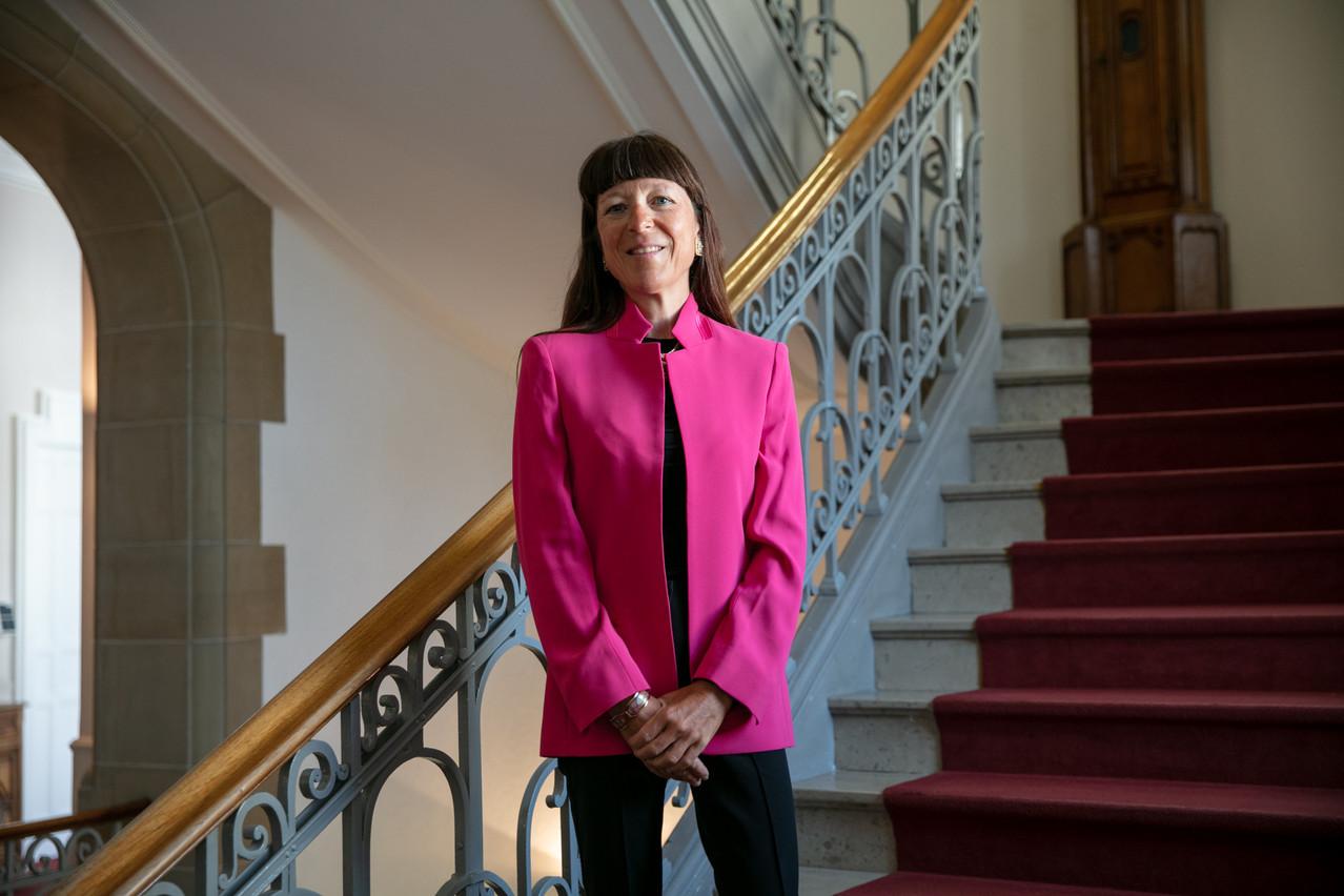 Françoise Thoma, directeur général de la Spuerkeess, se réjouit d'avoir vu le personnel de la banque participer à la nouvelle campagne. (Photo: Romain Gamba / Maison Moderne)