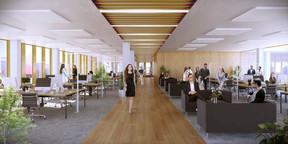 Les bureaux sont des plateaux flexibles pour répondre à tout type d'aménagement. ((Illustration: A2M-Moreno Architecture))