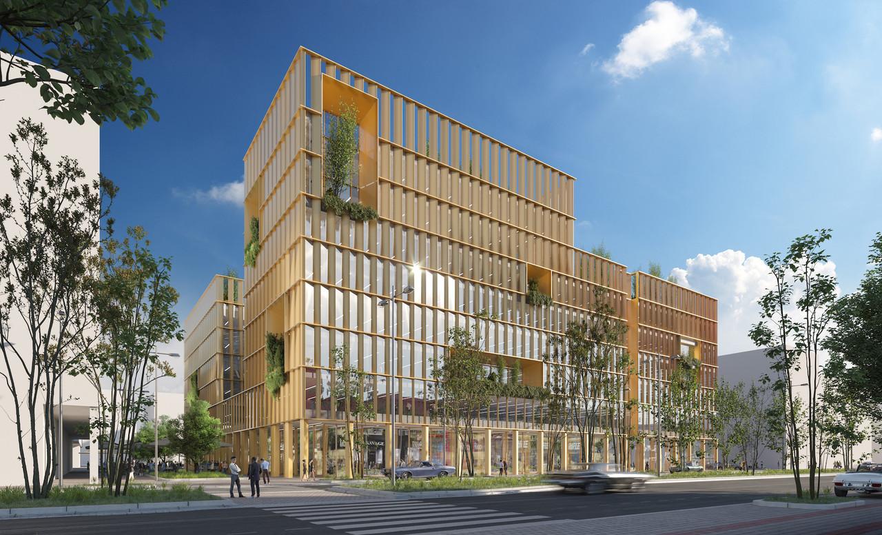En plus des toitures vertes, plusieurs loggias plantées seront développées. (Illustration: A2M-Moreno Architecture)