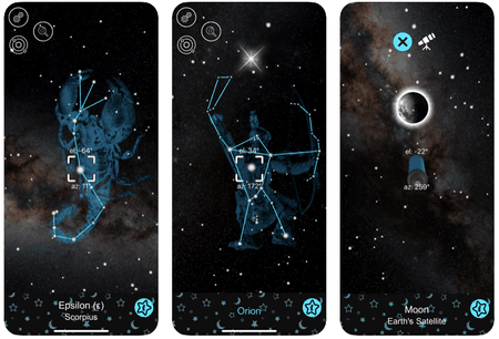 3.000 étoiles et 88constellations sont décrites dans l'application, dans une de ses versions payantes. (Photo: Star Map)