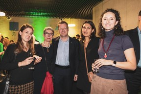 Elfy Pins (Supermiro), Anne-Claire Belval (Deep.lu), Jean-Michel Gaudron (Luxinnovation), Marina Andrieu (Wide) et Marie-Adélaïde Leclercq-Olhagaray (Wide) ((Photo: Patricia Pitsch / Maison Moderne))