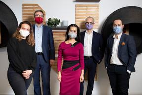 Ilana Devillers (F4A), Stéphane Pesch (LPEA), Diane Tea (LBAN), Jérôme Wittamer (Expon Capital) et José Soares (SnT) ((Photo: Simon Verjus/Maison Moderne))