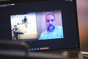 Marc Neuen (Linc), Diane Tea (LBAN) et Marais Coetzee (Cybersplice) ((Photo : Simon Verjus/Maison Moderne))