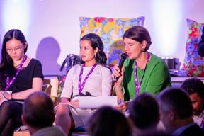 Lily Wang (Expon Capital), Diane Tea (LBAN) et Vania Henry (Legitech) ((Photo: Jan Hanrion/Maison Moderne))