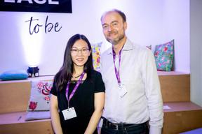 Lily Wang (Expon Capital) et Olivier Debeugny (Lingua Custodia) ((Photo: Jan Hanrion/Maison Moderne))