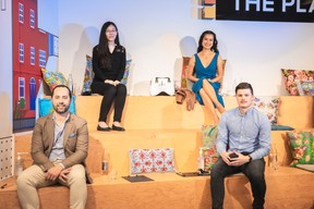 José Soares (SnT), Lily Wang (Expon Capital), Diane Tea (LBAN) et Sven Baltes (Startup Luxembourg) ((Photo:Simon Verjus/Maison Moderne))