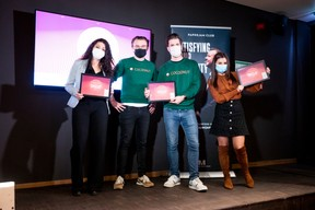 Francesca Pogliani (Deskover), Aurélien Dobbels, Nicolas Legay (Cocoonut) et Oxana Turtureanu (DigitalUs) ((Photo: Julian Pierrot / Maison Moderne))