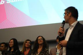 Lily Wang (Expon Capital), Polina Montano (Job Today), Fatima Cardoso (Vodafone) et Julien Delpy (Paperjam Club) ((Photo: Cristina Tita Andrez))