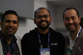 Pranjul Shah (Université du Luxembourg), Arnab Naskar (Stork) et José Soares (SnT) ((Photo: Cristina Tita Andrez))