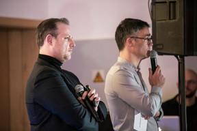 Marc Fleschen (Zero 1) et Julien Delpy (Maison Moderne) ((Photo: Jan Hanrion/ Maison Moderne))
